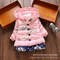 New Girls Outerwear children's clothing Baby girl fashion printed cotton coat Kids winter warm jacket clothes for 2-4 years old