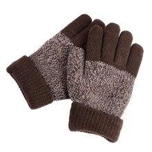 Sales Hot Autumn Winter Five Fingers Kids Gloves Boys Girls Mitten Thick Warm Cashmere Student Gloves