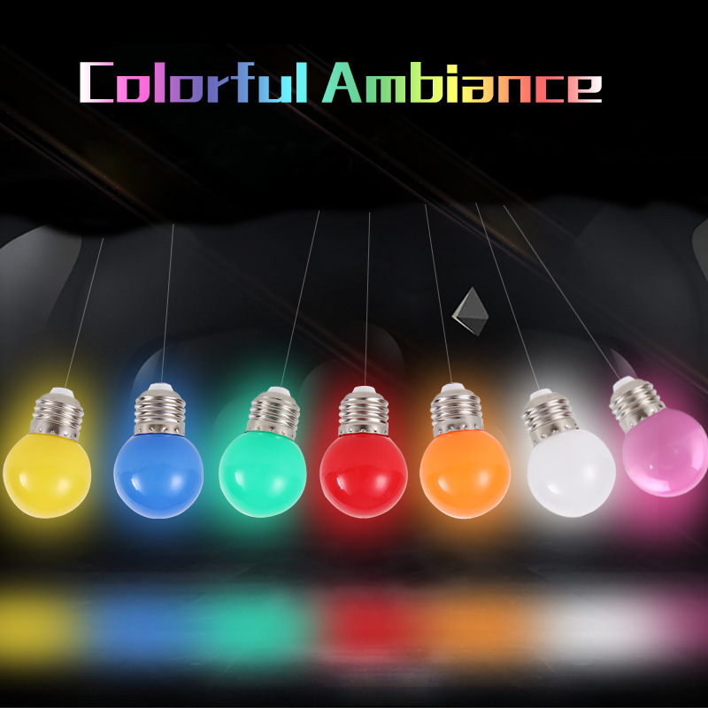 1pcs LED Bulbs 3W Energy Saving Bulb E27 Led Colorful Home Lighting 220V Color Led Lights for Home Christmas Decoration Lighting