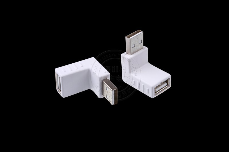 USB 2.0 A male to A female elbow USB revolution of 90 degrees mother L extended data adapter