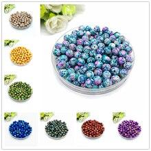 8 мм-14 мм круглые бусины для изготовления ювелирных изделий Акриловые бусины разноцветные свободные бусины ювелирные изделия DIY Аксессуары# YKL15-27