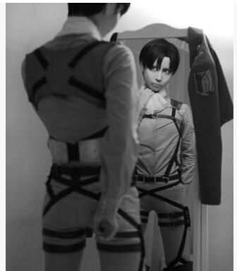 $ US $15.00 Attack on Titan Shingeki no Kyojin Recon Corps Harness belt hookshot Costume Adjustable Belts cosplay belts free shipping