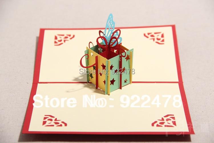 Novelty Stars Handmade Diy 3d Customized Gifts Birthday Cardspop Up