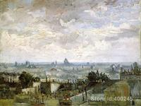 Hand Painting Art The Roofs Of Paris Of Vincent Van Gogh Reproduction Oil Canvas Handmade High