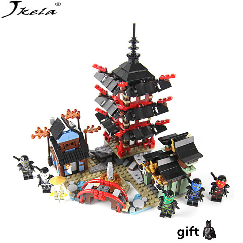 [HOT] Legoings Brick Ninja Temple 737+pcs DIY Building Block Sets educational Toys for Children Compatible legoings ninjagoes