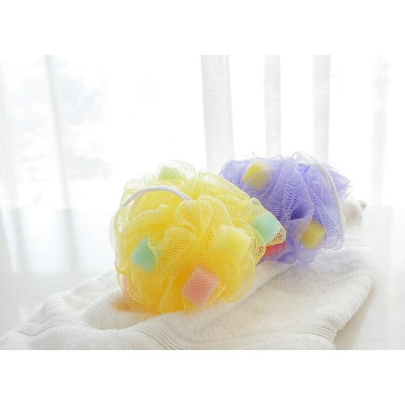 Wholesale Price 4pc lot Bath flower bath sponge bath Chopping Cuozao ball Foaming Net flower bath toiletries in Bath Brushes Sponges Scrubbers from Home Garden