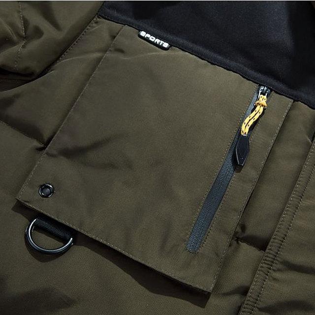 2018 Men's Thick Warm Winter Soft Coats Male down jacket Fine long Multi-pocket Duck coat Military jackets Large size Men Parkas