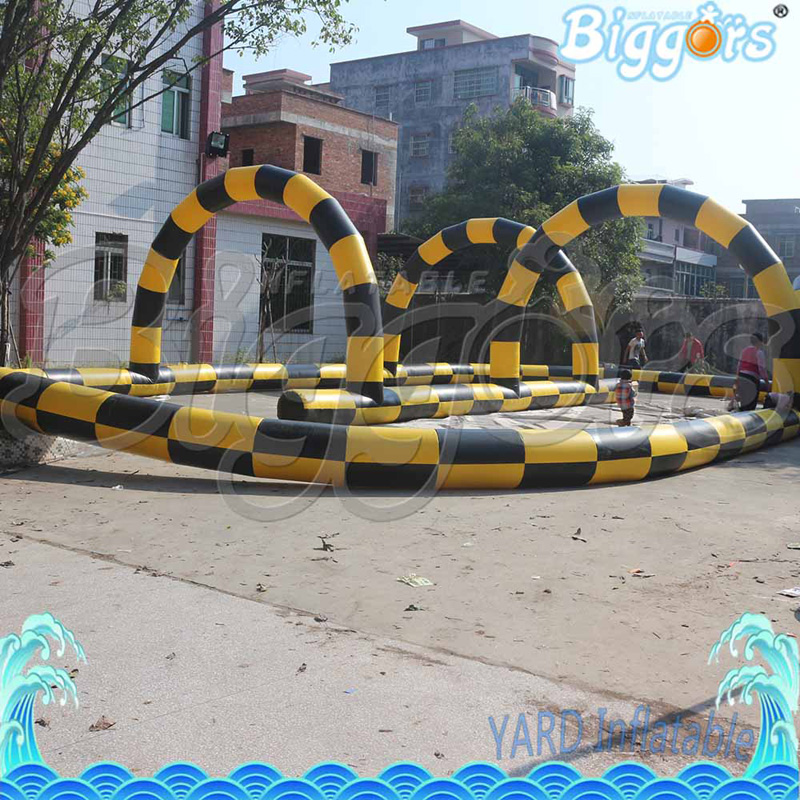 Largest Indoor Go Karting Air Track Economic Air Tube Karting Track Inflatable Karting Tracks economic methodology