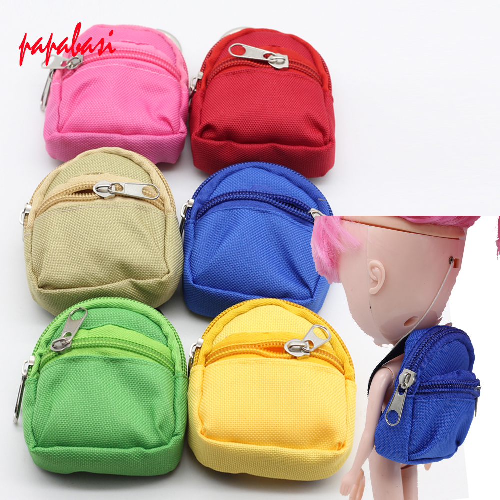 1PCS Dolls Bag Accessories backpack For Barbie Doll For BJD 1/6 blyth doll Best Gift trybeyond футболка для мальчика 999 74498 00 40z серый trybeyond