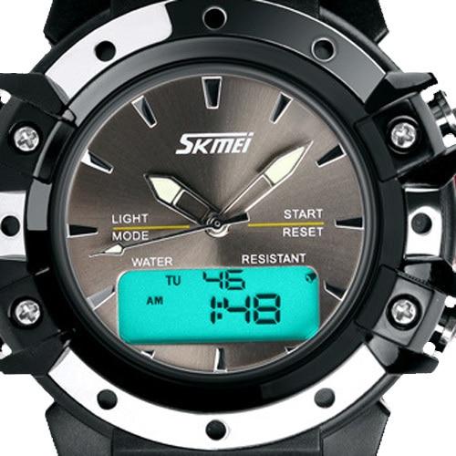 Skmei Men Sports Watches girls Women Analog Digital Quartz Couples Wristwatches boys men Water Resistant dual time zone
