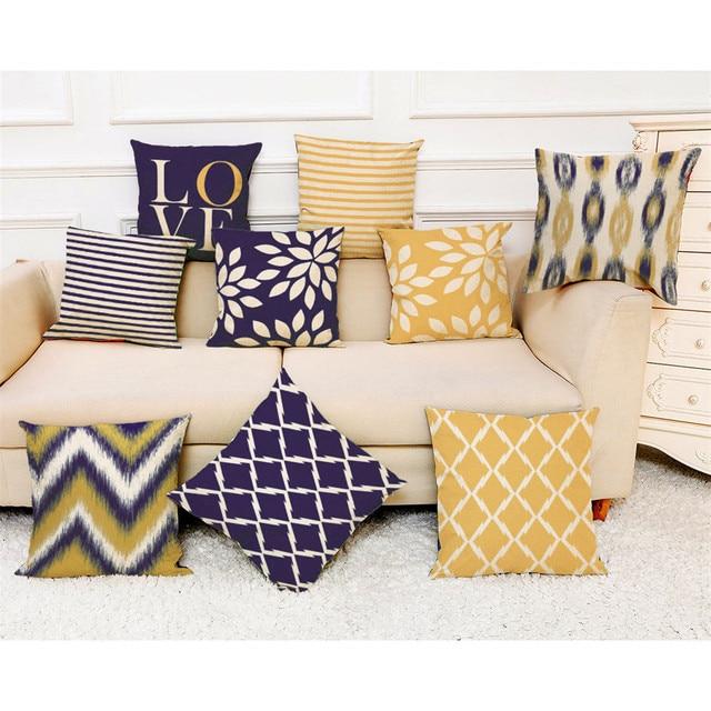 2018 Thời Trang Gối Bìa 45*45 cm Sofa Giường Trang Trí Nội Thất Cushion Cover Hình Hình Học Đơn Giản Nhiều Màu Thoải Mái Ném Pillowcover