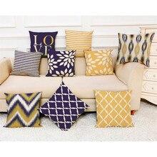 2018 mode taie doreiller 45*45cm canapé lit décor à la maison housse de coussin Simple géométrique multicolore confortable jeter taie doreiller
