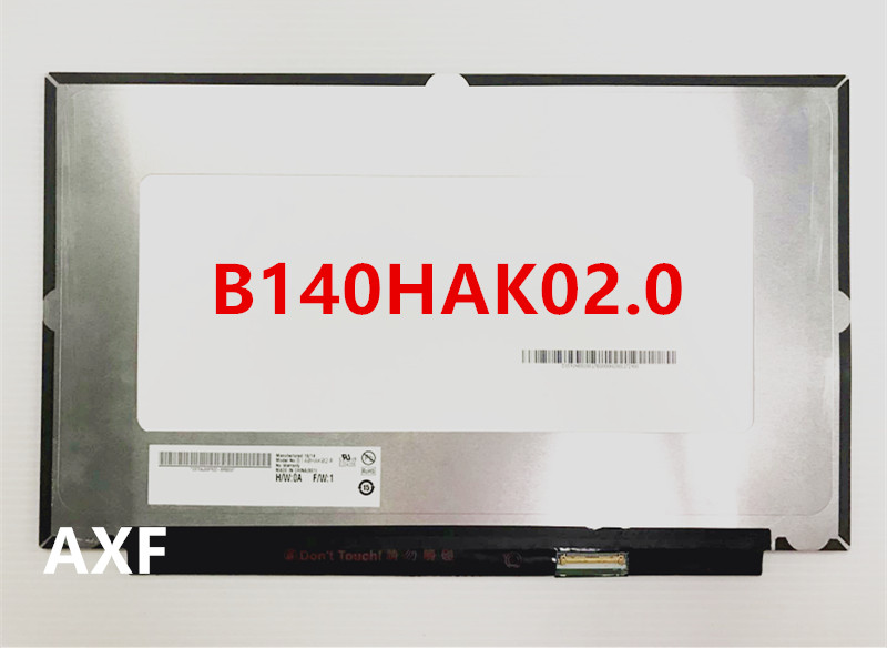 "B140HAK02.0 LED screen LCE display with touch matrix for laptop 14.0"" FHD 1920X1080 replacement"