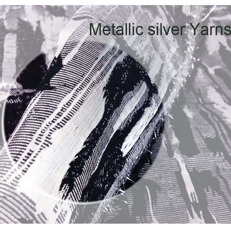 1 yard argintiu metalic Cross Jacquard Brocade Fabric pentru rochie, - Arte, meșteșuguri și cusut - Fotografie 3