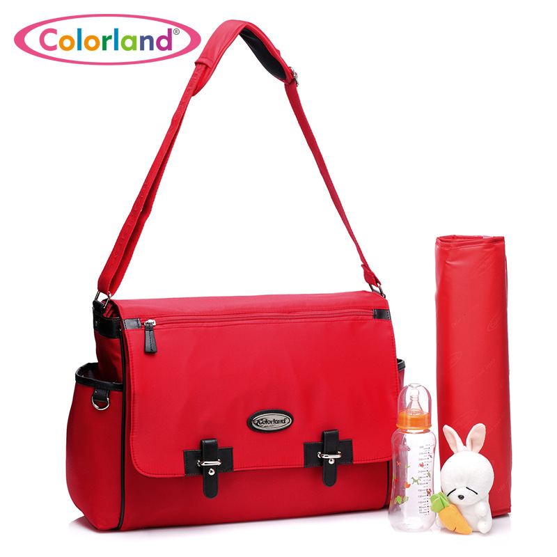 Colorland Solid Nappy Bag Maternal Diaper Bags Storage Baby Care Product Crossbody Shoulder Bags Fashion Mother Maternity Bags maternal benefits of regular exercise