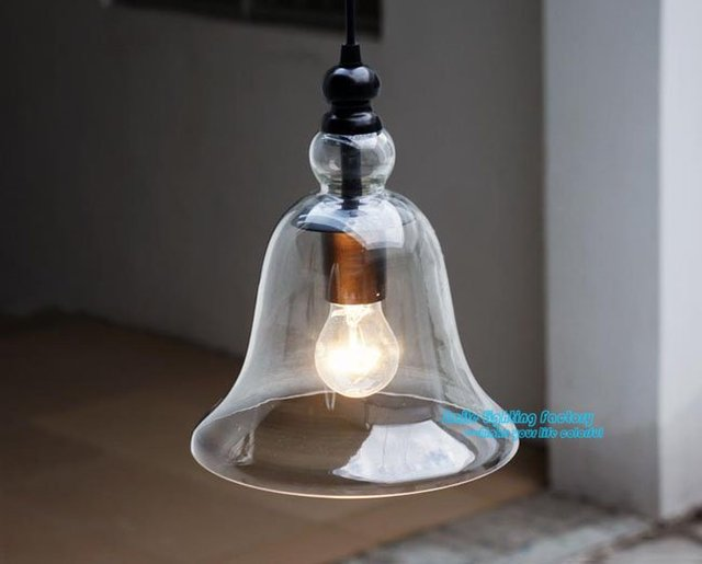 Moderno di vendita caldo 1 luce piccola campana di vetro lampade a