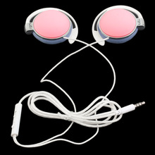 Aural Earphone Earphones Headset Stereo Headphones Handsfree with Microphone 3.5mm Earbuds for Most Mobile Phone