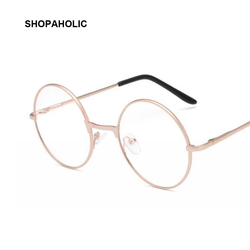Round Mirror Eyeglasses Clear-Lens Metal-Frame Korean Women Retro For Female