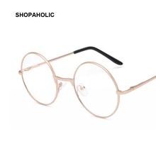 244227c46d12f Espelho Óculos de Sol para Mulheres Homens rodada Retro óculos de Armação  de Metal Coreano Glases Ópticos Lente Clara Óculos De .