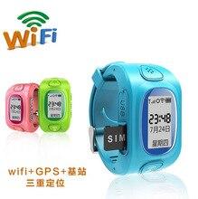 จีพีเอสติดตามwifi + GPSสมาร์ทนาฬิกาข้อมือสำหรับเด็กเด็กกันน้ำดูสมาร์ทที่มีSOSสนับสนุนGSMโทรศัพท์Android และIOSต่อต้านหายไป