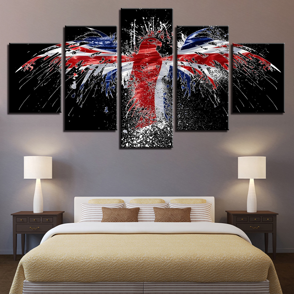 Home Decor Nation: Home Decor Canvas Painting HD Prints 5 Pieces National