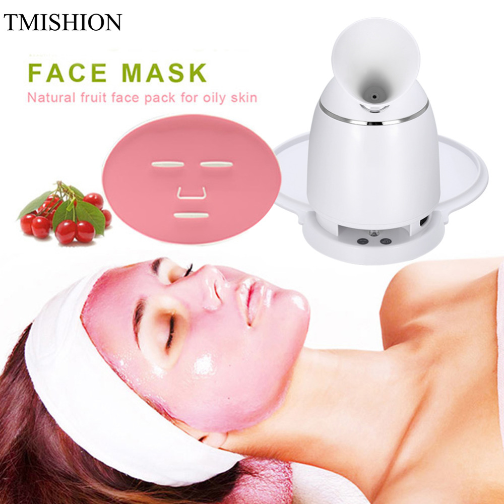 Automatic Facial Mask Machine & Face Steamer Natural Organic Fruit Mask Maker Steamer DIY Facial Mask Collagen Skin Care Tools organic root ors hair mayonnaise natural organic mayonnaise mask 454g
