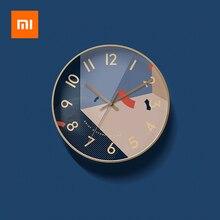 Xiaomi New Clock Watch Wall Clocks Simple Modern Quartz Clock Mute Solar Movement Home Decoration Living Room Quartz Clock