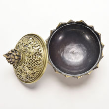 7.8*7.2*6.0cm Tibetan Lotus Incense Burner Alloy Bronze Mini Incense Burner Incensory Metal Craft Home Decor