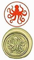Octopus Vintage Luxury Wax Seal Sealing Stamp Brass Peacock Metal Handle Sticks Melting Spoon Wood Gift