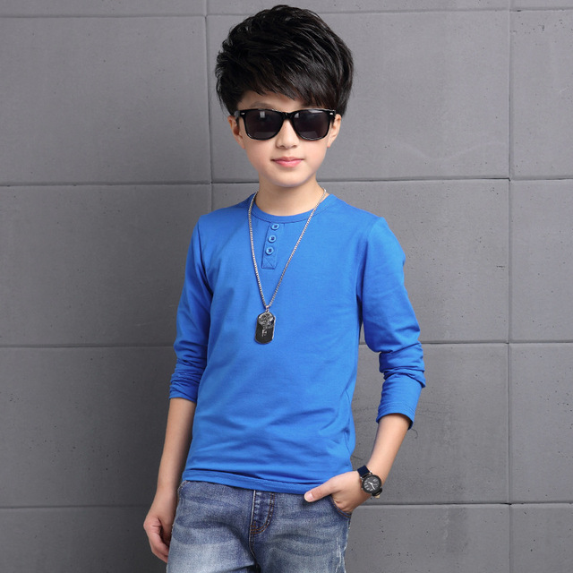 2016 Fashion Baby Boys T Shirt Long Sleeve Cotton Casual Spring Autumn Kids Full Sleeve Shirts Tops Tees Children Clothes