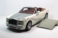 English White Kyosho 1/18 Rolls-Royce Phantom Drophead Coupe Alloy Model Car Convertible Luxury Vehicle Valuable Gift