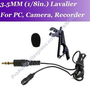 MICWL MEC de solapa de Clip micrófono Mic para PC ordenador portátil Cámara ZOOM grabadora grabación estéreo de 3,5mm