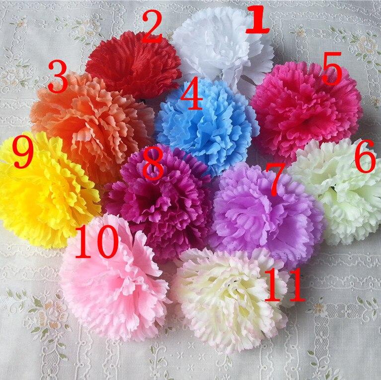 artificial flowers for diy wedding decoration carnations flower heads 20pcs bouquet wedding table decoration centerpieces