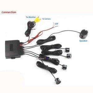 Image 4 - Koorinwoo çift çekirdekli CPU Video sistemi araba park sensörü geri park etme radarı 4 alarmı bip sesi gösterisi mesafe ekran sensörü