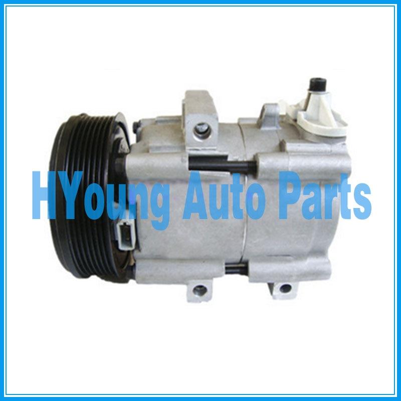 4502836 4681621 1447718 1447718 auto ac Compressor for Ford Transit 2.4 2000 2006 YC1H19D629AA YC1H19D629AB FS10 7pk 127mm|A/C Compressor & Clutch| |  - title=