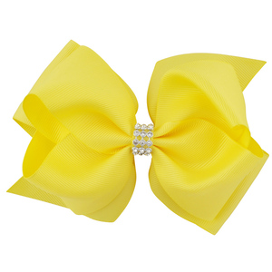 Image 5 - 20pcs/lot 6 Inch Mixed Color Newest Girls Hairwear Large Double Layers Hairbow Kids G Dancing Boutique Hair Bows Clips