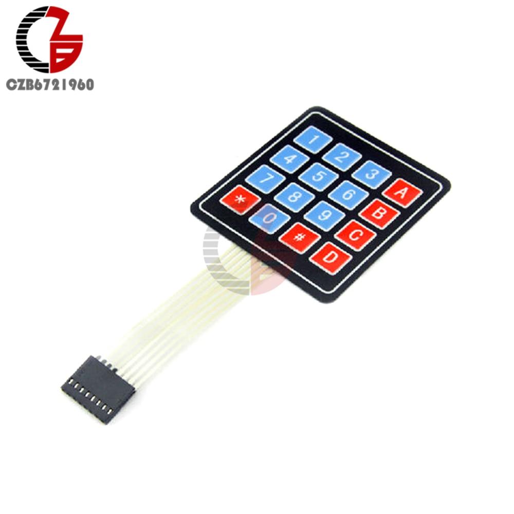 #DC 35V 4 x 4 Matrix Array 16 Key Membrane Switch Key pad Key board for Arduino AVR PIC#