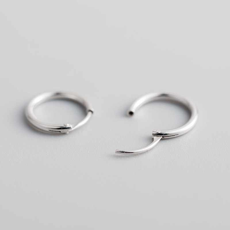 Серьги-кольца настоящий чистый 925 пробы серебряные серьги много размеров гладкая поверхность для мальчика или девочки мужчина женщина