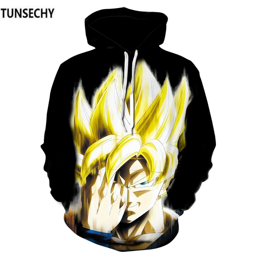 TUNSECHY spring autumn New men's hoodies Dragonball sun wukong 3D digital printing Hoodies & Sweatshirts Wholesale and retail