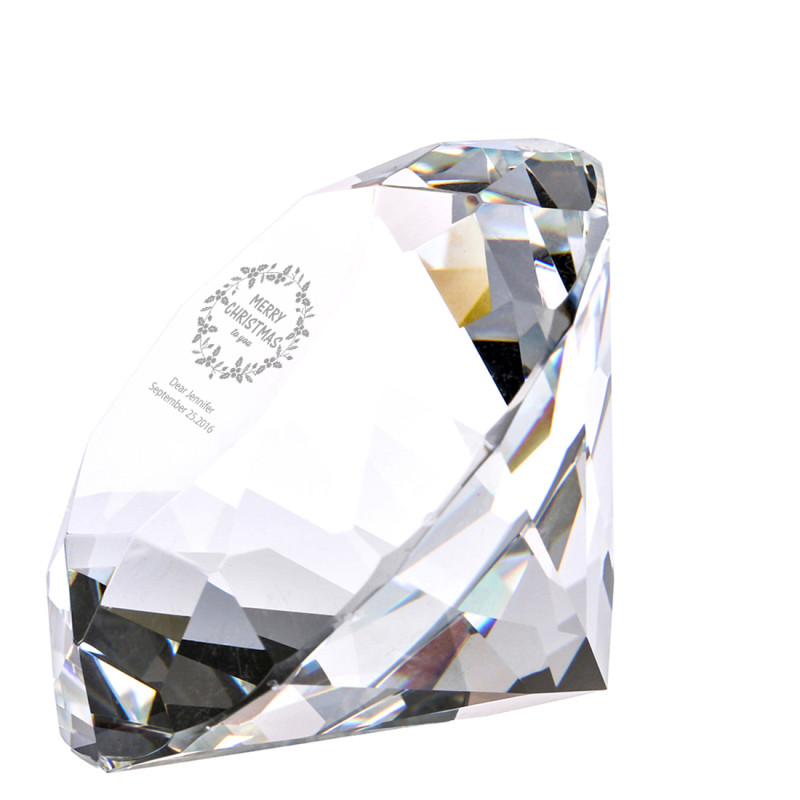 60mm Accept Printing on Crystal Diamond Paperweight Crafts Collection Souvenir Birthday Christmas Wedding Gifts Decor