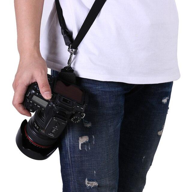 Black Quick Setup Digital Camera Shoulder Neck Strap Flexible Single Shoulder Sling Belt Camera Strap Accessories