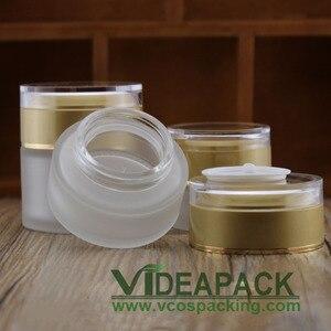 Image 3 - 50 Pcs 20G 30G 50G Crème Frosted Glazen Pot Lege Flessen Container Cosmetische Plastic Schroefdop