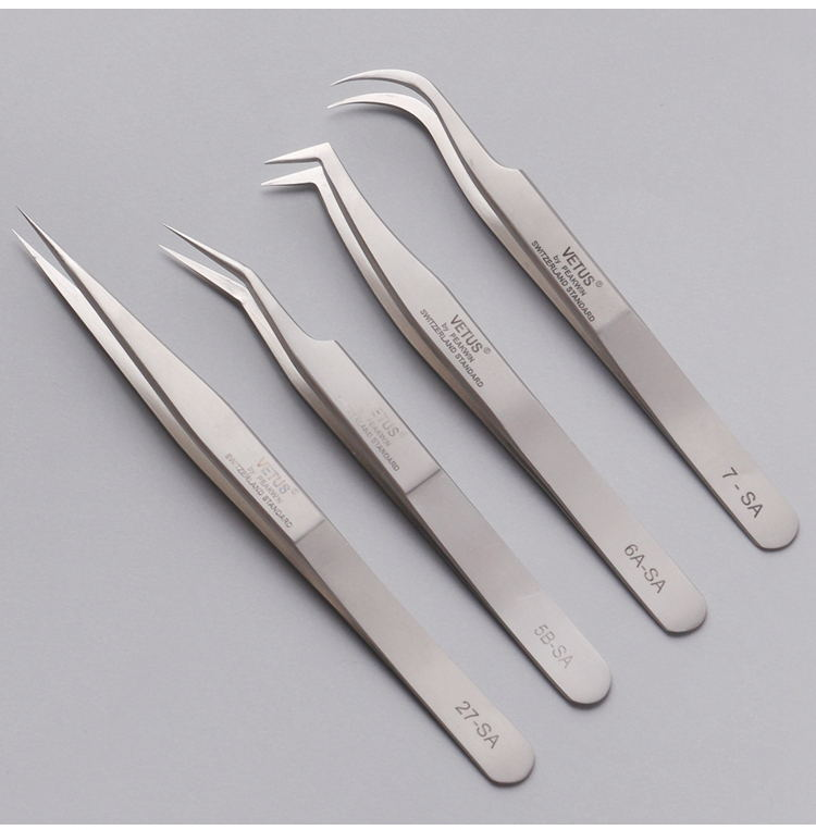 Profissional Tweezers Mink Eyelashes Individual For Eyelash Extension Tweezer Lashes Pinzas Cejas Eyebrows Stainless Pincet Tool wcmx080412 nn lt30 swiss made lamina original carbide inserts for u drill