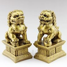 Feng Shui resin imitation bronze lion talisman Home Furnishing jewelry ornaments