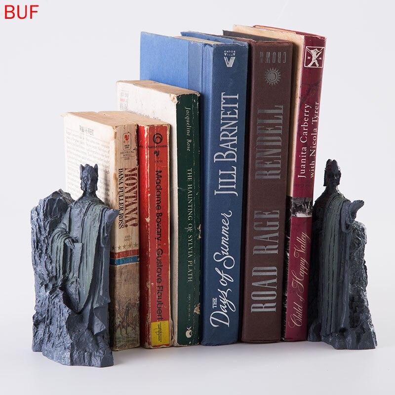 2 pièces Résine Statue de Personnage de Film Sculpture Créatifs Livre Fichier Décoration De La Maison Accessoires Étagère Décoration