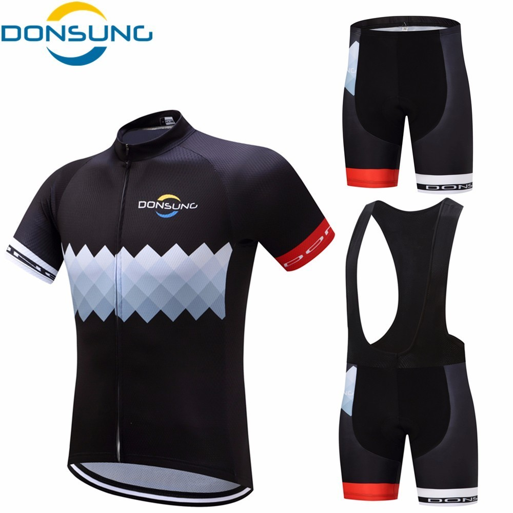 DONSUNG Pro Summer Cycling Jersey Sets 2018 Gel Padded Bike Shorts Breathable Pro Cycling Clothing Jersey Male Maillot Ciclismo