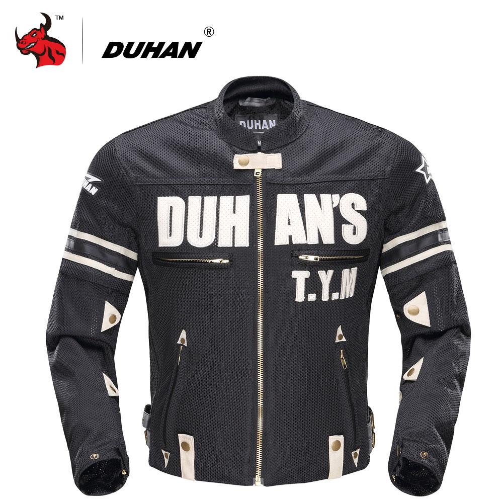 DUHAN Motorcycle Jacket Summer Men Breathable Mesh MotoJacket Motorcycle Racing Jackets Protector Moto Protective Gear
