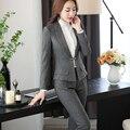 Recién Llegados Chal Collar de Dos Piezas de Damas Pantalón Traje Formal Para La Boda Diseños De Uniformes de Oficina Mujer Trajes de Negocios Para trabajar