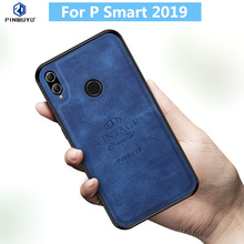 For Huawei P Smart 2019 Case Original PINWUYO VINTAGE PU Leather Protective Phone for Shockproof