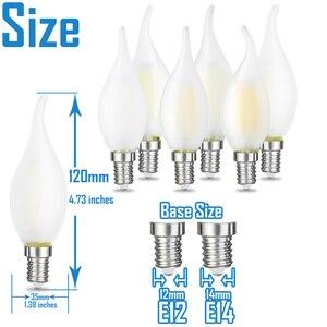 Image 3 - JCKing Dimmbare 2W 4W 6W Led Kerze E12 E14 110V 220V Vintage Retro Dimmen Matt glühlampen Lampe Für Kronleuchter Beleuchtung
